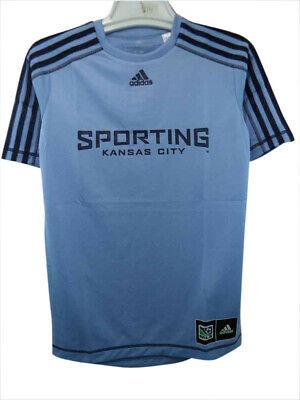 5cf496e05 Sporting Kansas City Adidas MLS Official Team Climalite Jersey Youth XS