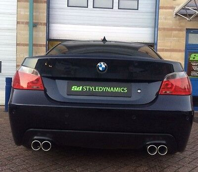 Bmw 520D/e60 M5 Style Exhaust Conversion Inc Rear Valance.stainless Steel