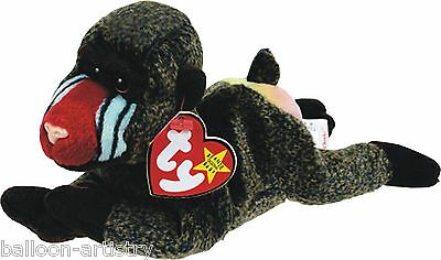Ty Beanie Baby Cheeks Baboon Monkey Retired DOB May 18th 1998 soft toy