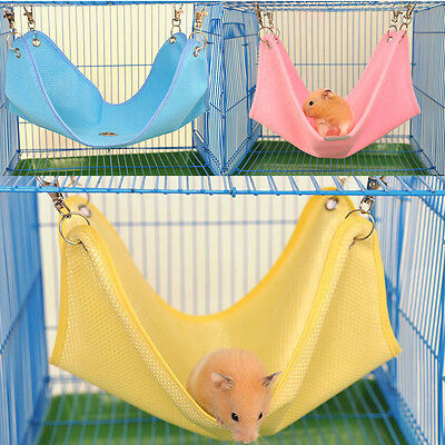 Comfort Hanging 2 Size Bed Cage Net Cloth Pink Hammock House Rat Hamster Mouse