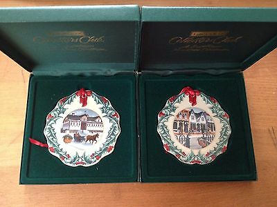 Longaberger Set of  98', & '99 Collectors Club Christmas Ornaments - MINT