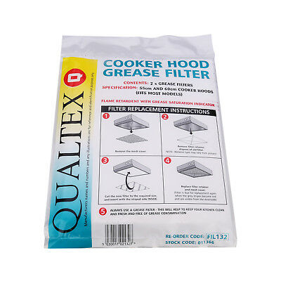 Zanussi Electrolux AEG Cooker Hood Extractor Grease Filter Paper 2PK