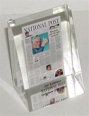 Paperweight National Post News Paper 1St Edition 1998