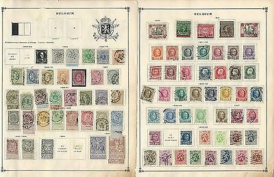 Belgium Collection 1850 to 1939 on 22 Scott International Pages