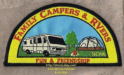LMH PATCH Badge FAMILY CAMPERS RVers Fun FCRV Friendship NCHA National Hiker RV