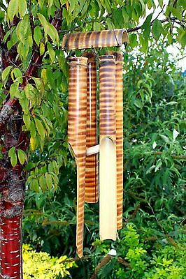 Bamboo Wind Chimes - 4 Large tubes - Garden Feng Shui