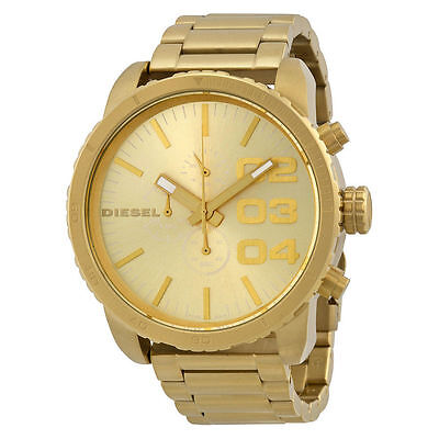 New Diesel  Franchise Gold Tone Stainless Steel Chronograph Men's Watch DZ4268