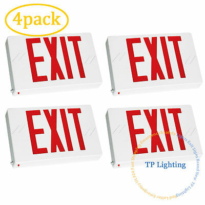 4pack Red LED Emergency Exit Light Sign - Modern Battery Backup UL924 Fire