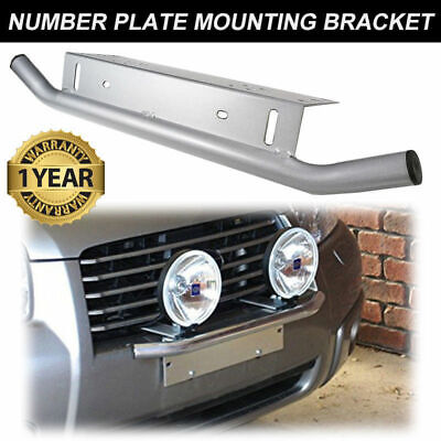 Number Plate Bullbar Frame For Driving Light Bar Mount Mounting Bracket Silver