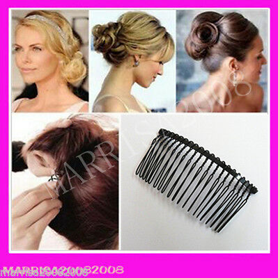 Fashion Women Hair Styling Tool Curve Pin Clip in Black