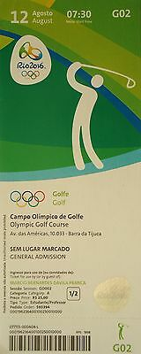 TICKET 12.8.2016 Olympia Rio Golf Golfe # G02