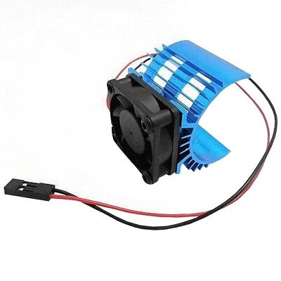 Heatsink & Cooling Fan Aluminum for 1:10 HSP RC Car 540 550 3650 Size Motor   S