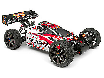 Hpi 101716 Clear Trophy Buggy Flux Bodyshell W/window Masks And Decals New!