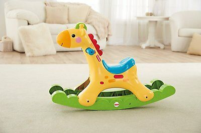 NEW Fisher Price Rockin Tunes Giraffe Interactive Colourful Dancing Lights