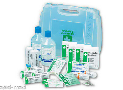 Evolution 10 Person HSE Workplace First Aid & Eye Wash Kit (2 x 500ml)
