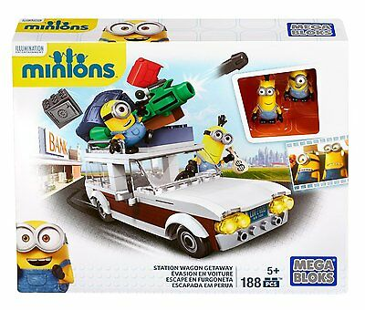 NEW Mega Bloks Minion Movie Station Wagon Getaway Toy Character Figures