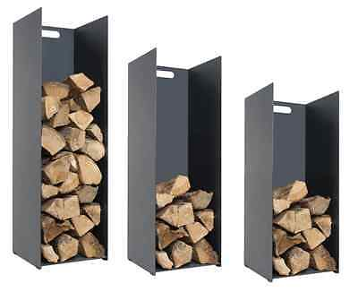Stovax Black Steel Log Holder In 3 Sizes Wood Basket Fireplace Accessories