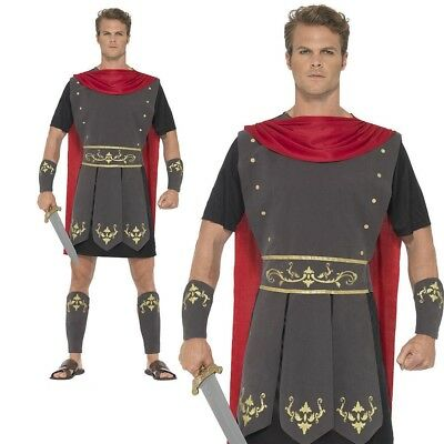 Roman Gladiator Costume Mens Centurion Fancy Dress Outfit Sizes S-XL