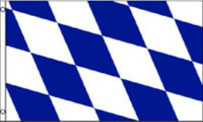 BAVARIA FLAG 5' x 3' No Crest Bavarian Beer Festival German Oktoberfest TO CLEAR
