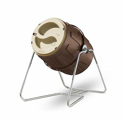 Suncast Tumbling Composter Durable Resin Construction Easy Fill And Empty