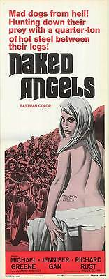 MOTORCYCLE GANG original 1969 14x36 insert movie poster NAKED ANGELS