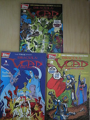 DRACULA : VLAD THE IMPALER : COMPLETE 3 ISSUE SERIES by ROY THOMAS. TOPPS. 1993
