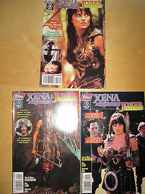 Xena, Warrior Princess & Joxer :complete 3 Issue Series. Photo Covers.topps.1997