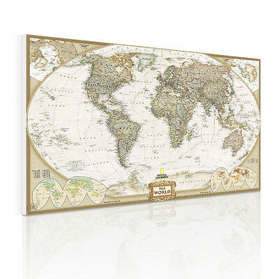 Unframed Canvas Prints Poster Home Decor Wall Art Painting Picture World Map