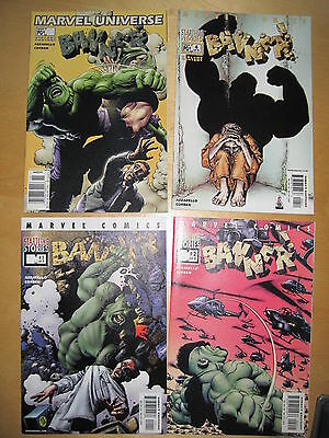 "HULK : ""BANNER"" : COMPLETE 4 ISSUE SERIES by AZZARELLO & CORBEN. MARVEL. 2001"