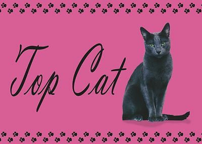 Top Cat - Black Cat - Napfunterlage - Futtermatte