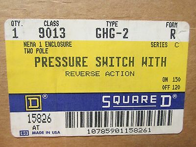 * New Square D Reverse Action Pressure Switch 9013Ghg-2 Form R .......  Uu-19