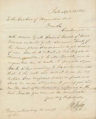 1842 ALS to a Cashier by an Unknown Person of Fame