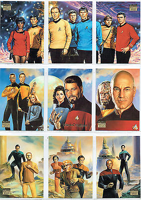 Star Trek Master Series 2Nd Set Complete Set Of 9 Foil Cards F1-F9