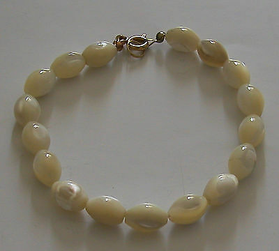 A Vintage Hand Made From Mother Of Pearl Bracelet