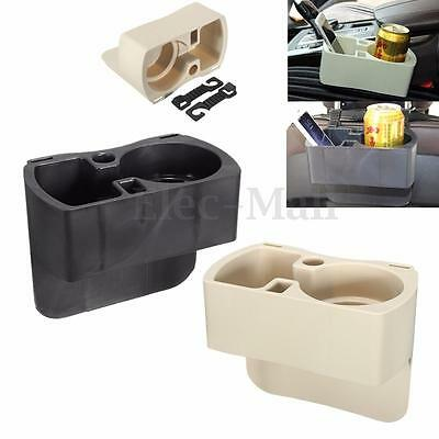 Universal Mount Drink Bottle Organizer Car Auto Vehicle Cup Holder Stand +2 Hook