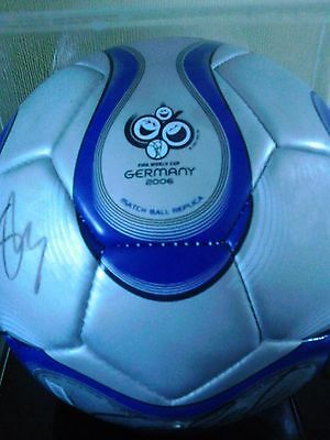 FIFA World Cup Germany 2006, England Squad Signed Ball in Display Case