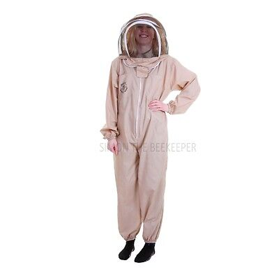 Buzz Basic Beekeepers Suit With Fencing/Astronaut Veil - Khaki