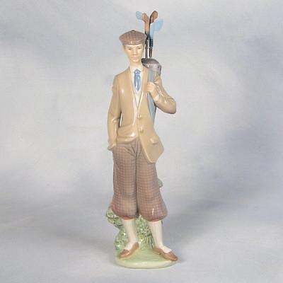 "Lladro ""golfer"" Figurine - Gentleman Carrying His Golf Clubs"