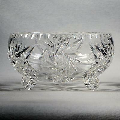 """Pinwheel Cut Crystal  Footed  Bowl - Approx. 5-3/4"""" In Dia. X 3-1/4"""" High"""