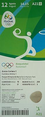 mint TICKET 12.8.2016 Olympia Rio Basketball Men's China - Australien # A21