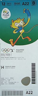 TICKET M 12.8.2016 Olympia Rio Basketball Men's USA - Serbien # A22