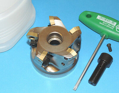 """Mitsubishi 3"""" High Feed Indexable Face Mill w/ JDMT Inserts (AJXU14R0305C)"""