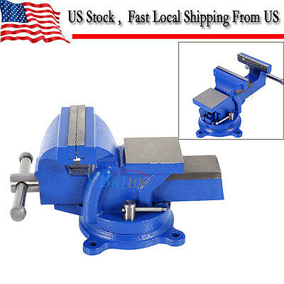 "4"" Heavy Duty Work Bench Vice Vise Workshop Clamp Engineer Jaw Swivel Base Table"