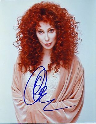 1990S Autographed 8X10 *cher* Color Photo Must See Signed!! Reprint Free S&h