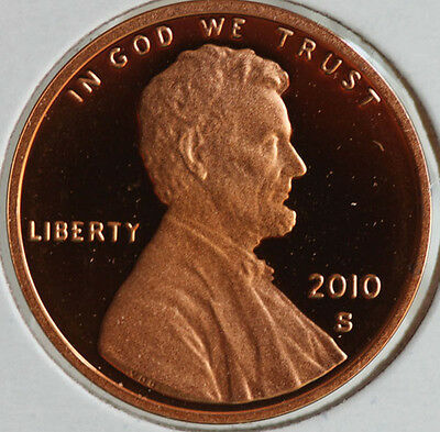 2010 Proof Union Shield Lincoln One Cent Penny Coin US San Francisco Mint