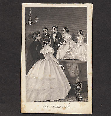 Tom Thumb Midget Freak Circus Sideshow Lavinia Warren Wedding Reception CDV Card
