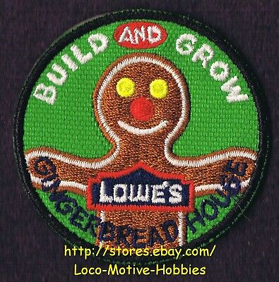 LMH PATCH Badge 2012 GINGERBREAD HOUSE Man Cookie  LOWES Build Grow Kid's Clinic