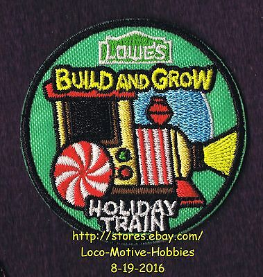 LMH PATCH Badge  HOLIDAY TRAIN Locomotive  Kids LOWES Build Grow Project Series