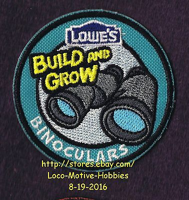LMH Patch Badge 2014 BINOCULARS Field Glasses LOWES Build Grow Kids Clinic Turq