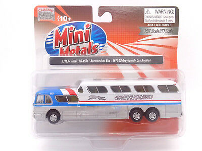 HO Greyhound GMC Scenicruiser Bus 1973-78 L.A. - Classic Metal Works #33113